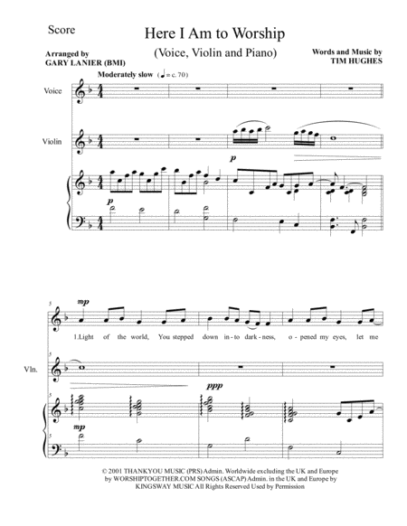 here i am to worship piano sheet music pdf