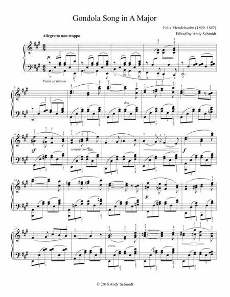 Gondola Song in A Major