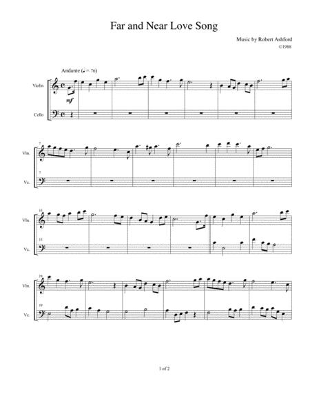 Far and Near Love Song (Violin and Cello)