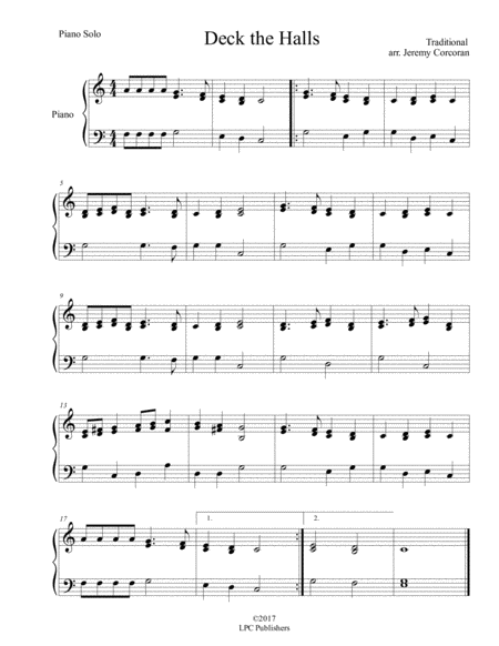 Deck the Halls Piano Solo