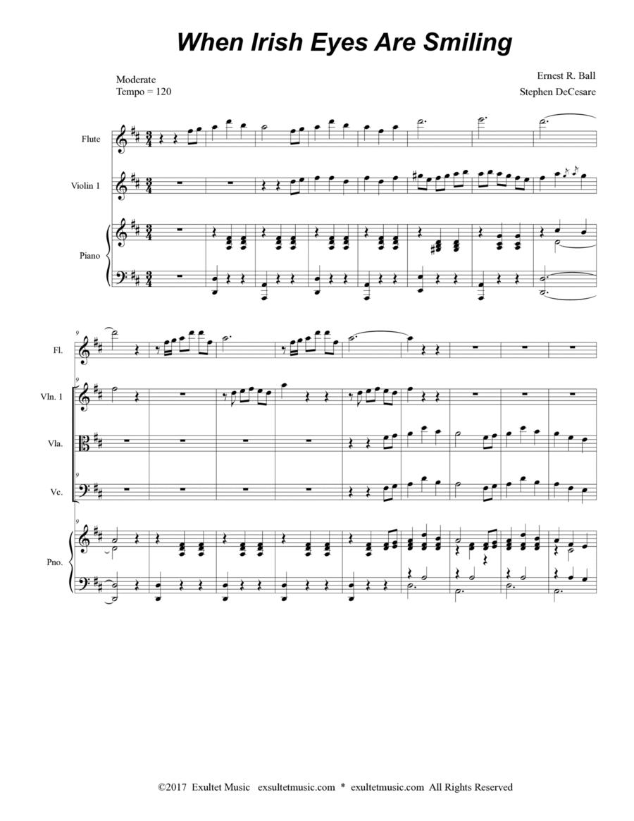 When Irish Eyes Are Smiling (for String Quartet)