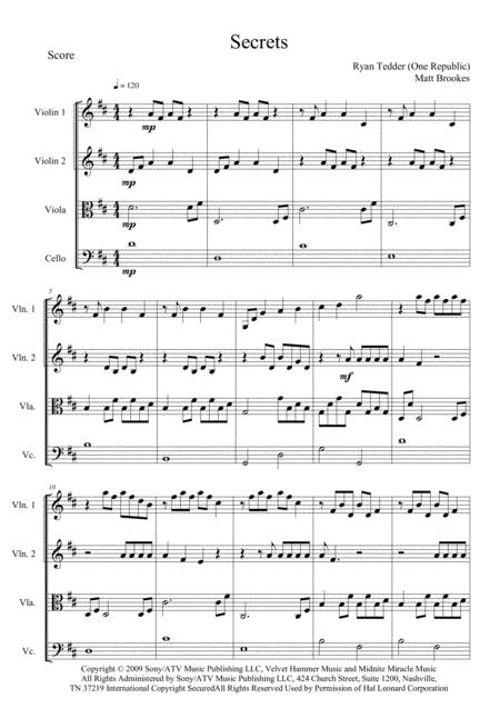 Secrets for string ensemble