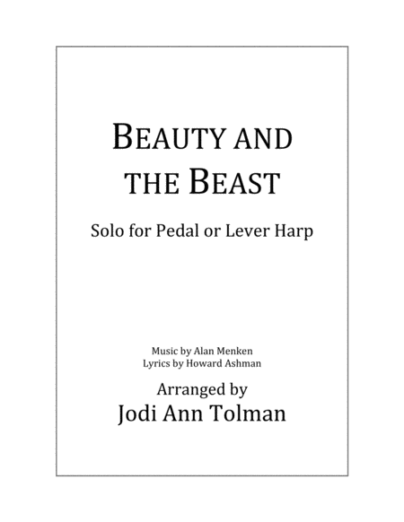 Beauty And The Beast - Intermediate Harp Solo