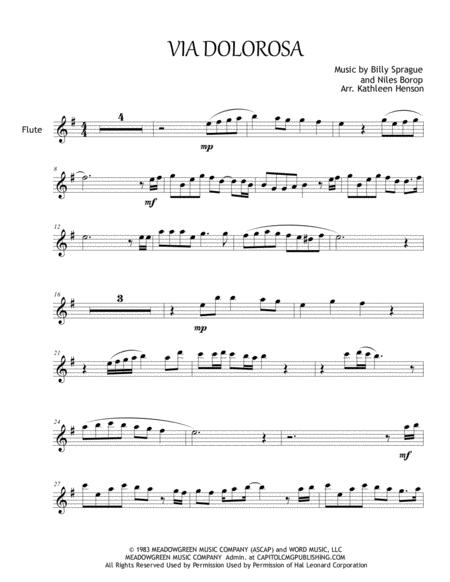 Via Dolorosa for Solo Flute