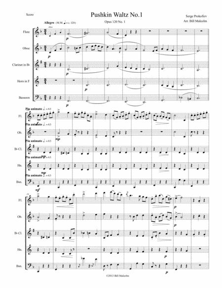 Pushkin Waltz No. 1 for Wind Quintet