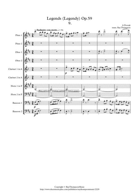 Dvorak: Legends Op.59 Mvt.9 in D - wind dectet