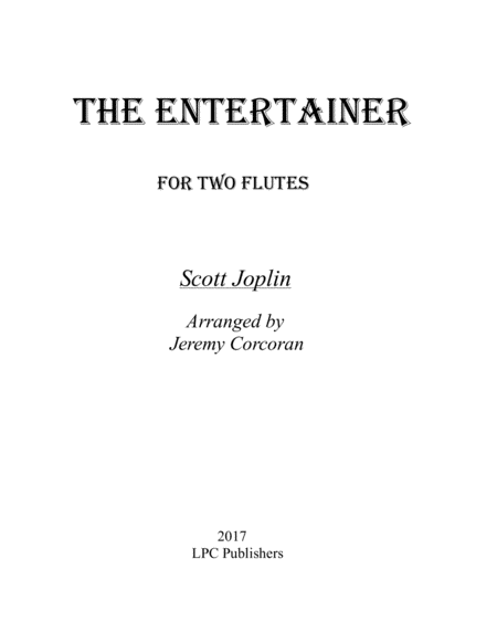 The Entertainer for Two Flutes