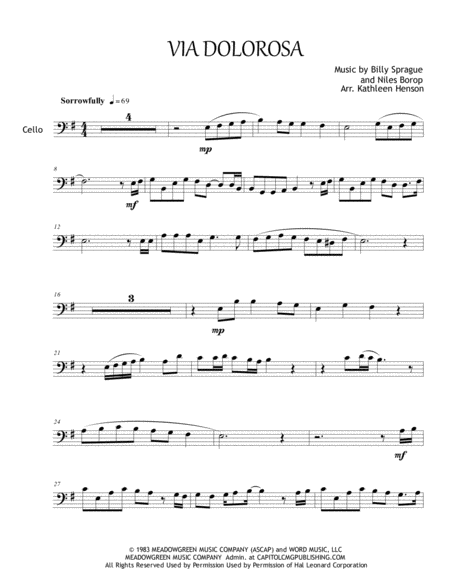 Via Dolorosa for Solo Cello & Piano Accompaniment