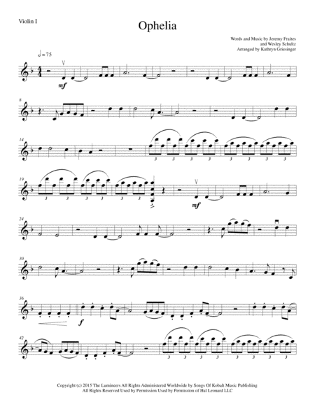 Ophelia - String Quartet