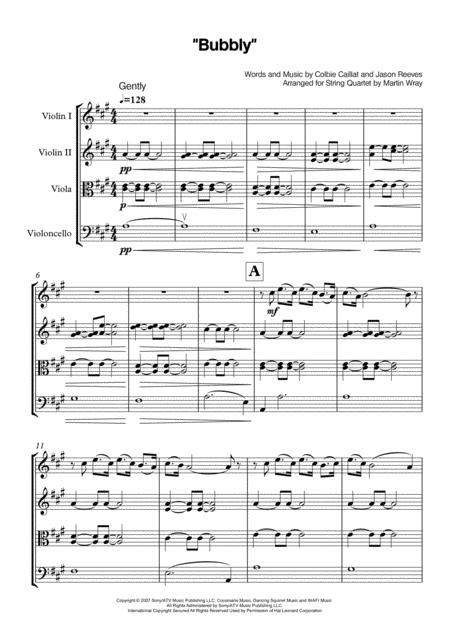 Bubbly - String Quartet
