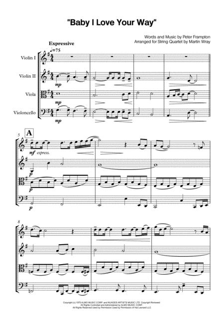Baby, I Love Your Way - String Quartet