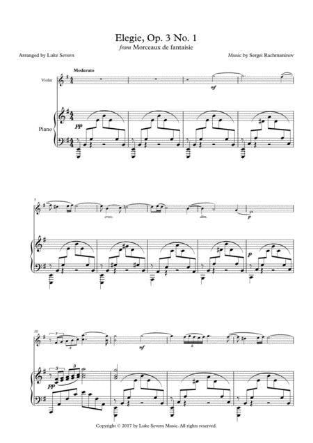 Elegie, Op. 3