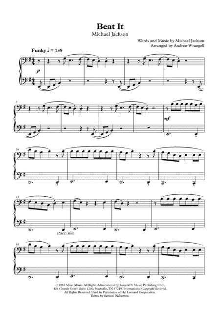 Beat It (Easy Piano)