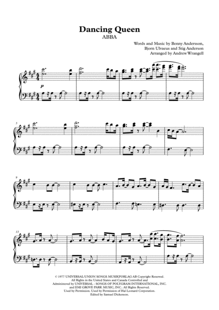 Dancing Queen (Piano)