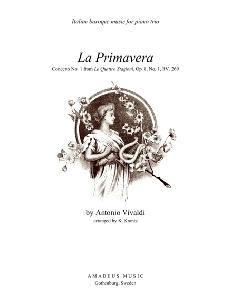 Primavera (Spring) RV. 269 - complete score for piano trio
