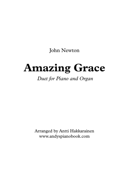Amazing Grace - Piano & Organ Duet
