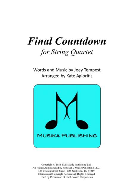 Final Countdown - for String Quartet