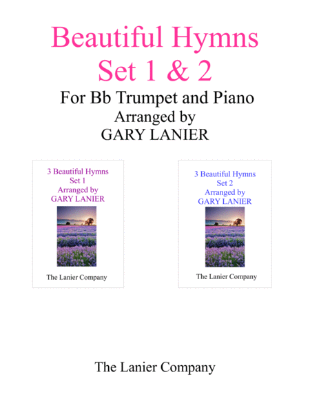 BEAUTIFUL HYMNS Set 1 & 2 (Duets - Bb Trumpet and Piano with Parts)