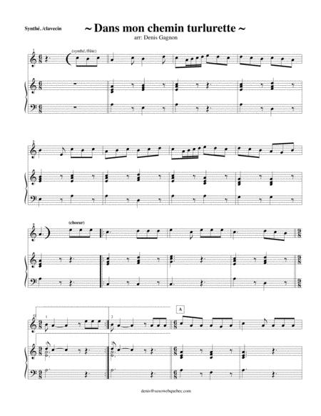 Mon chemin Turlurette (partition de piano d'accompagnement)