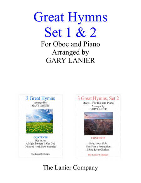 GREAT HYMNS Set 1 & 2 (Duets - Oboe and Piano with Parts)