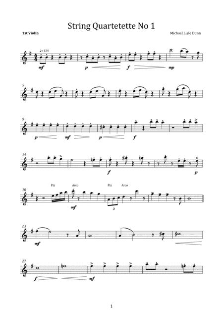 String Quartetette No 1