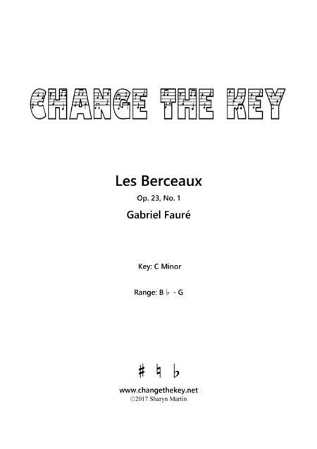 Les Berceaux - C minor