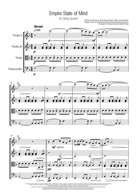 Empire State Of Mind - String Quartet