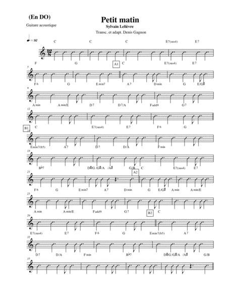 LE PETIT MATIN (Score et 4 partitions)