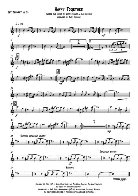 Happy Together - Brass Quintet
