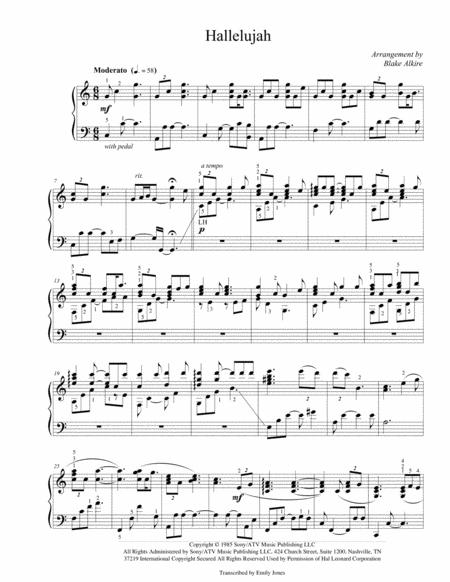Hallelujah (Advanced Piano Arrangement)