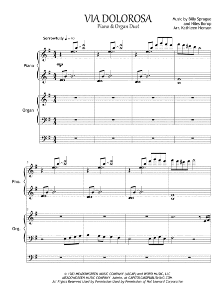 Via Dolorosa - Piano and Organ Duet