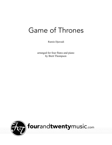 Game Of Thrones arranged for four flutes and piano