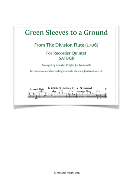Green Sleeves to a Ground