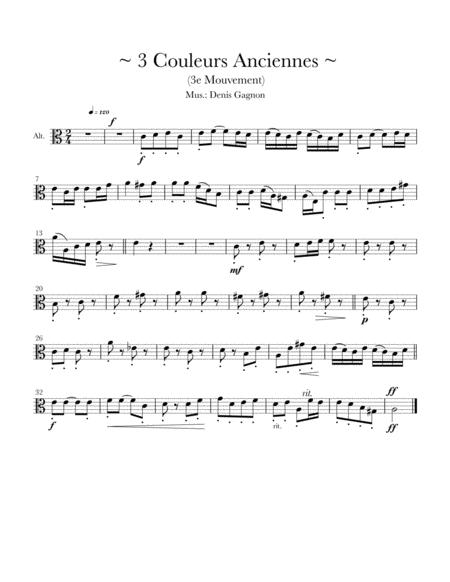 Trois couleurs anciennes (3) pour Quatuor à cordes (Score et partitions)