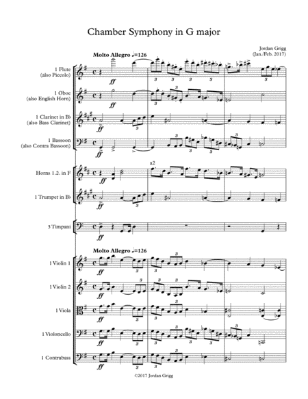 Chamber Symphony in G major-Score