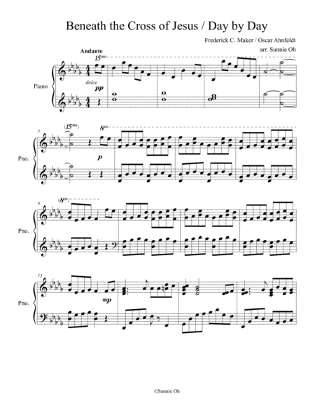 Beneath the Cross of Jesus / Day by Day Solo Piano Arrangement [2017 Sacred Music Contest Entry]