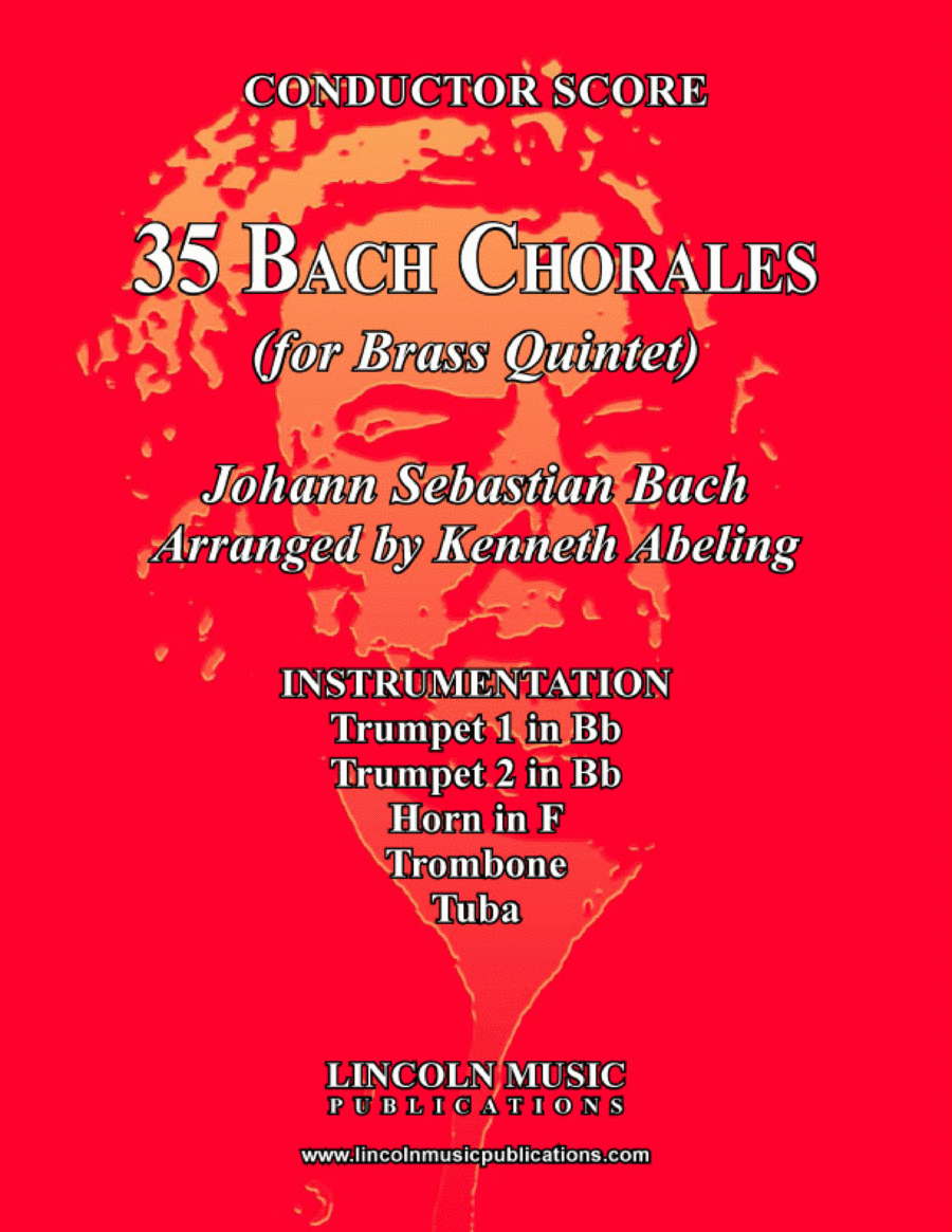 Bach Four-Part Chorales - 35 in Set (for Brass Quintet)