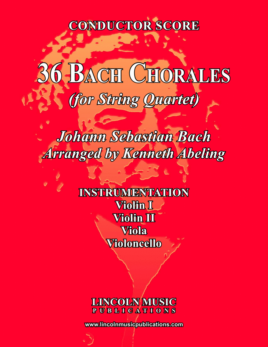 Bach Four-Part Chorales - 36 in Set (for String Quartet)