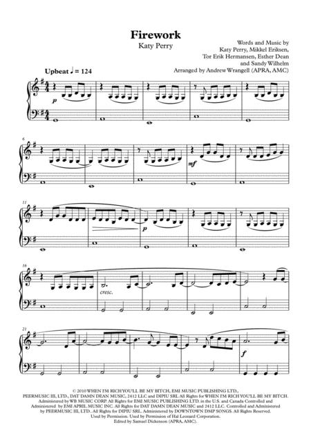 Firework (Easy Piano)