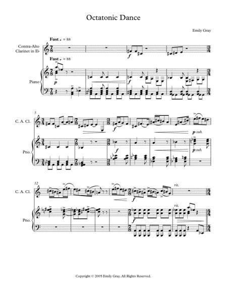 Octatonic Dance (Contra-Alto Clarinet and Piano)