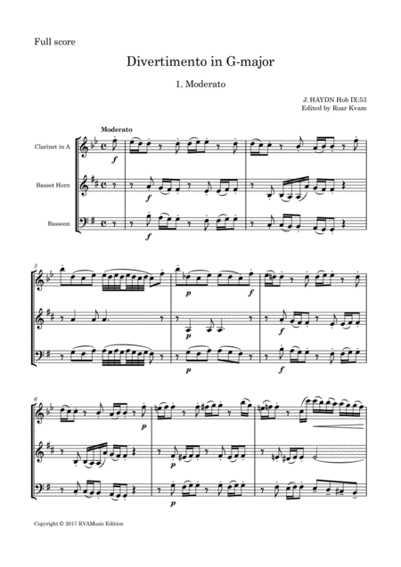 J. Haydn: Divertimento in G major Hob IX:53