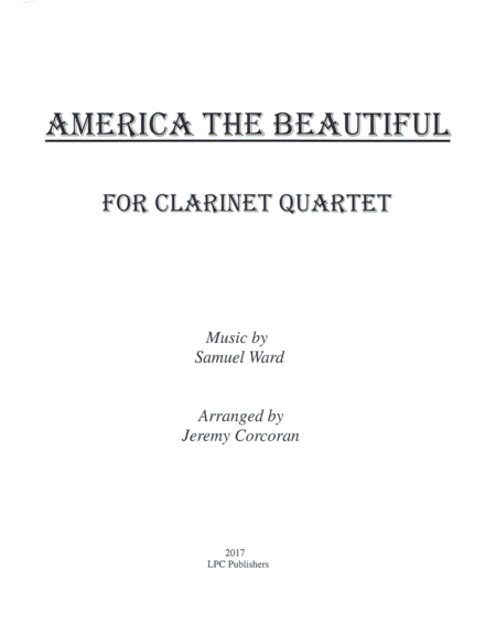 America the Beautiful for Clarinet Quartet