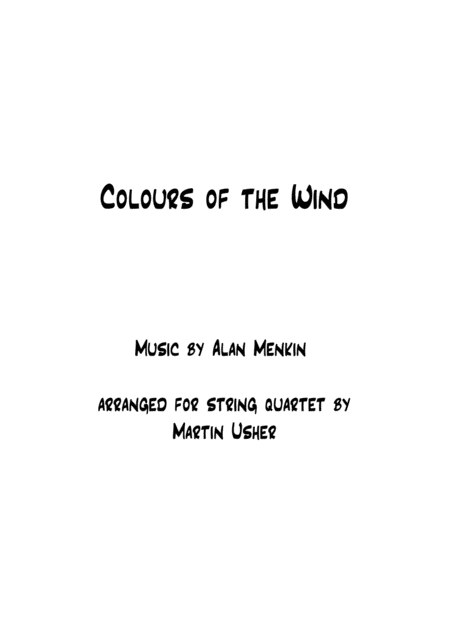 Colors Of The Wind - String Quartet