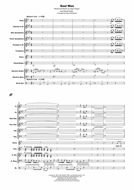 Soul Man, simple and flexible arrangement for Band with Vocal
