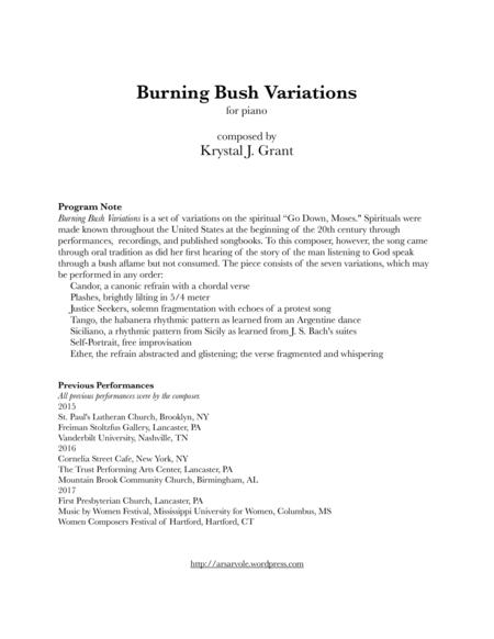 Burning Bush Variations
