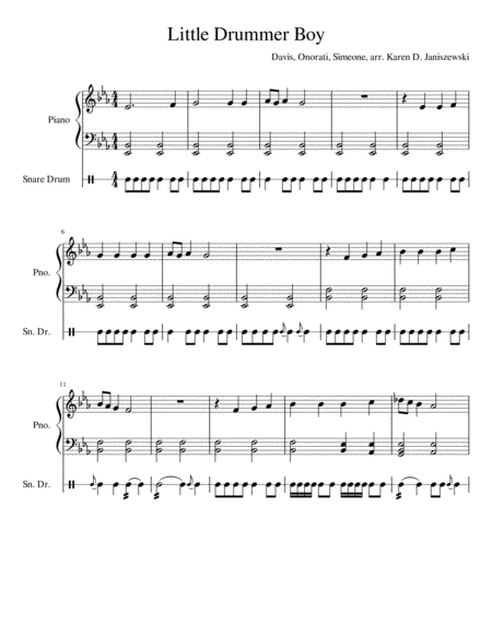 The Little Drummer Boy (Drums and Piano)