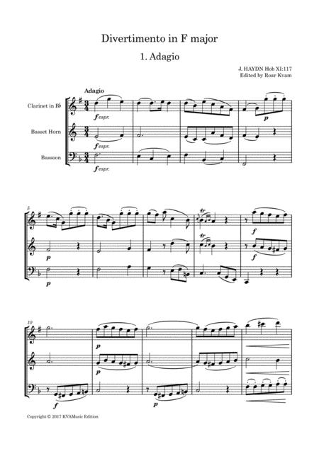 J. Haydn: Divertimento i F major