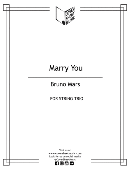 Marry You String Trio