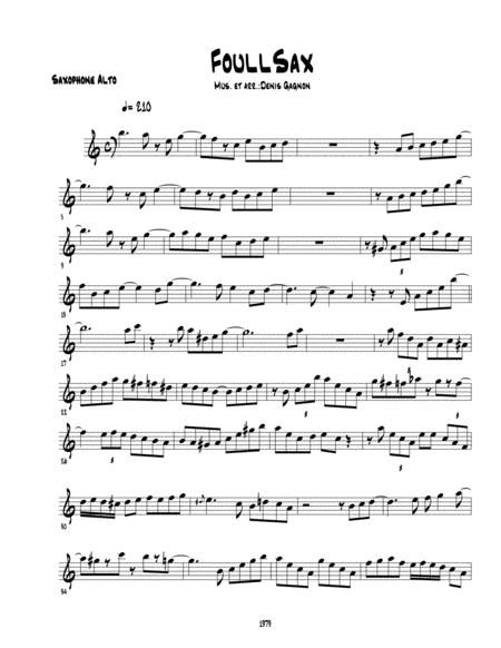 Foullsax pour Quatuor de saxophones et section rythmique (Score et 7 partitions)