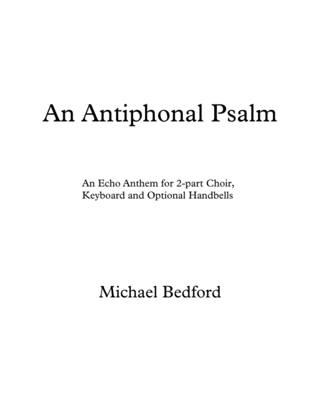 An Antiphonal Psalm